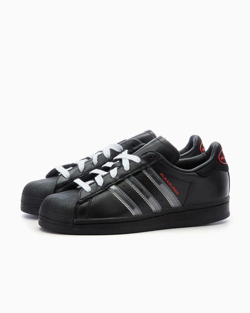 Pleasures x adidas Superstar Carbon Black