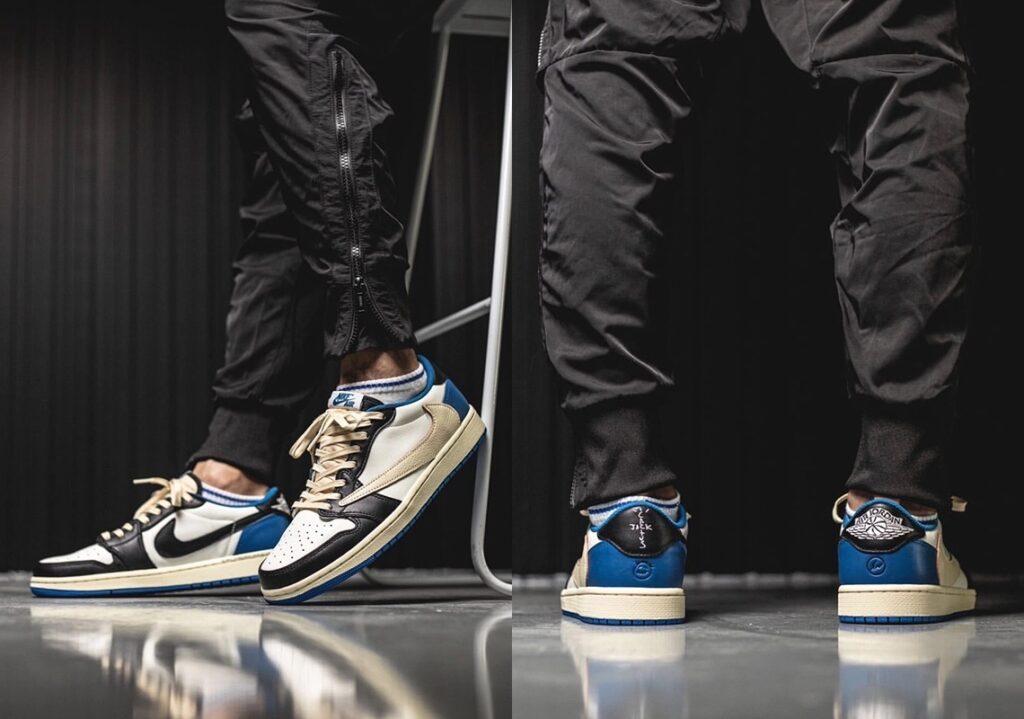 Jordan 1 Low Travis Scott x Fragment Military Blue