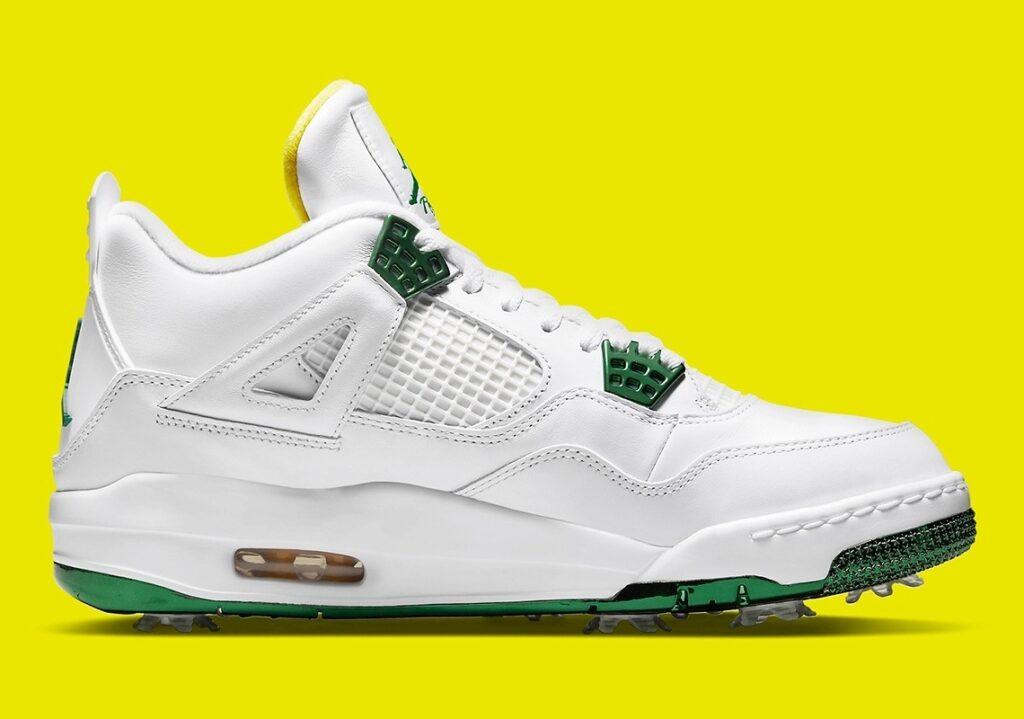 Jordan 4 Golf Metallic Green