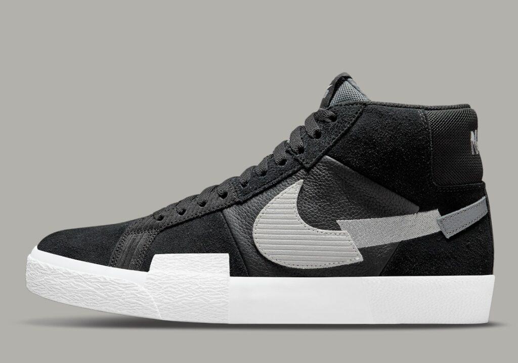 Nike SB Blazer Mid Mosaic Black Grey