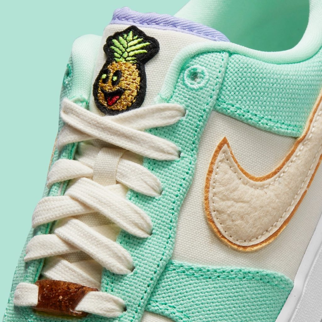 Air Force 1 Happy Pineapple Green Glow