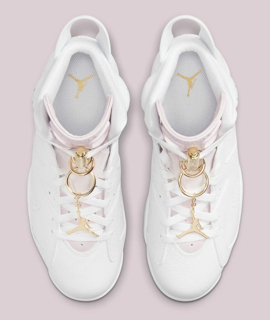 Jordan 6 Gold Hoops