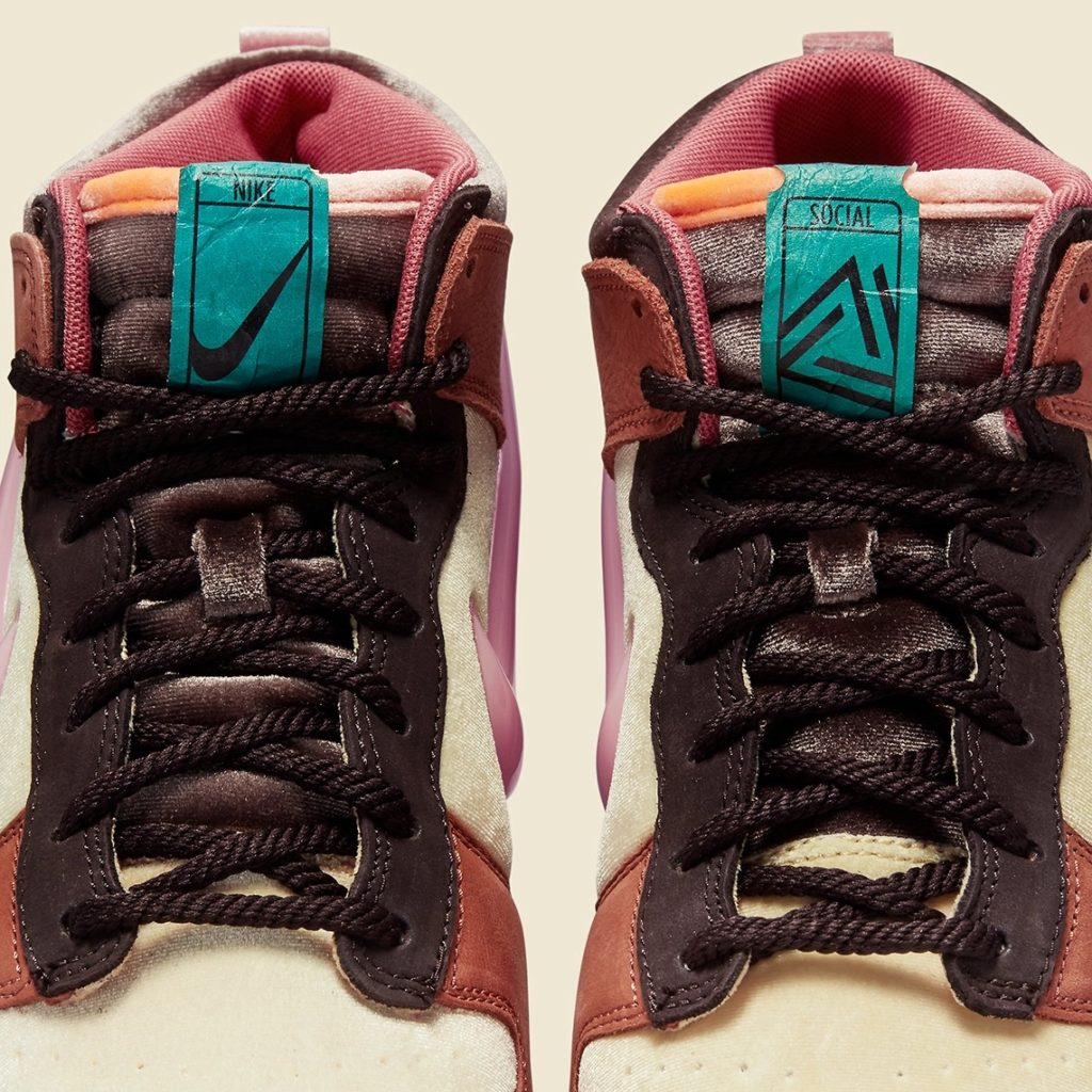 Social Status x Nike Dunk Mid Free Lunch Burnt Brown