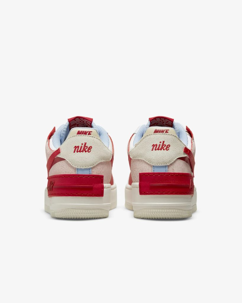 Air Force 1 Shadow White Gym Red