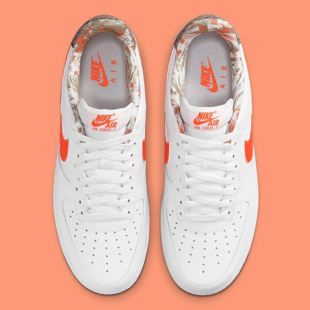 Air Force 1 White Team Orange Grind