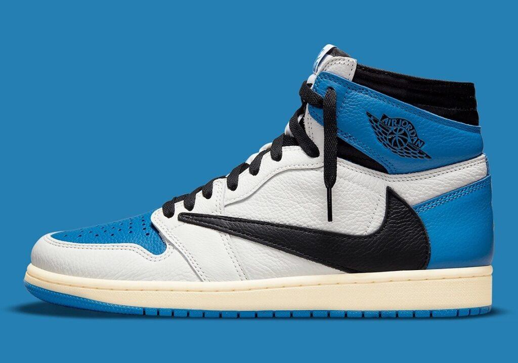 Jordan 1 High Travis Scott x Fragment Military Blue