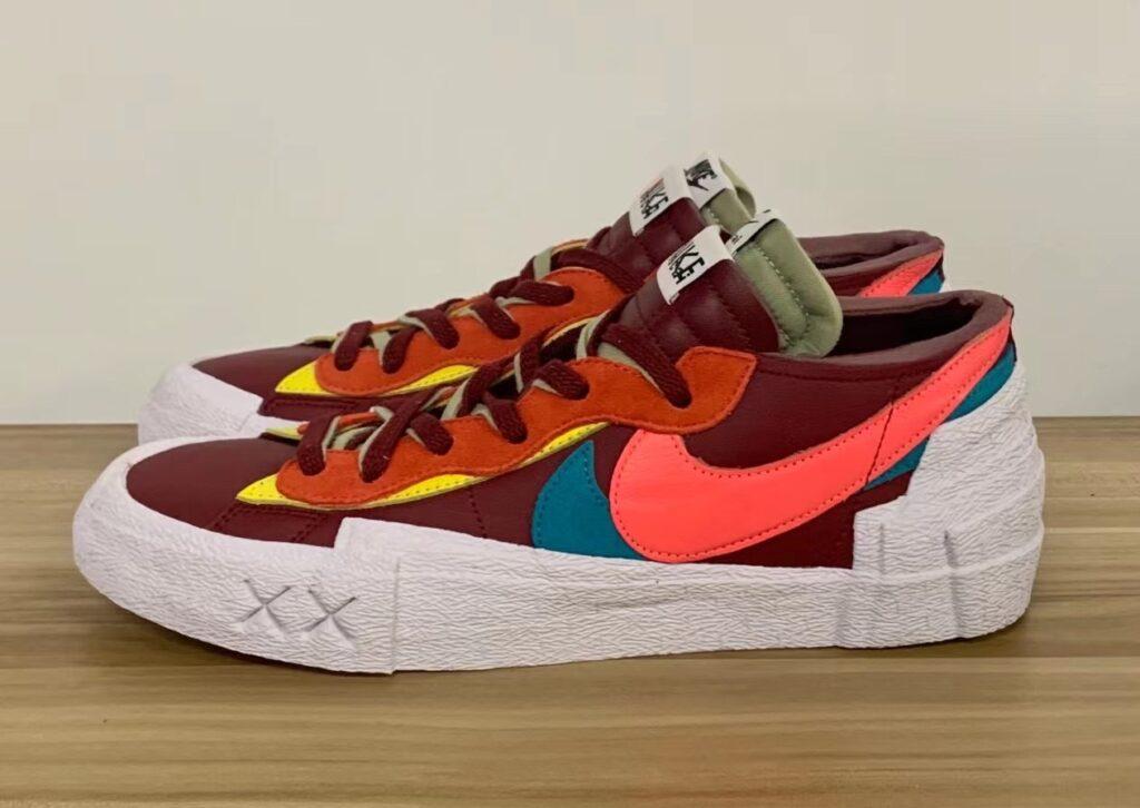 KAWS x Sacai x Nike Blazer Low Red