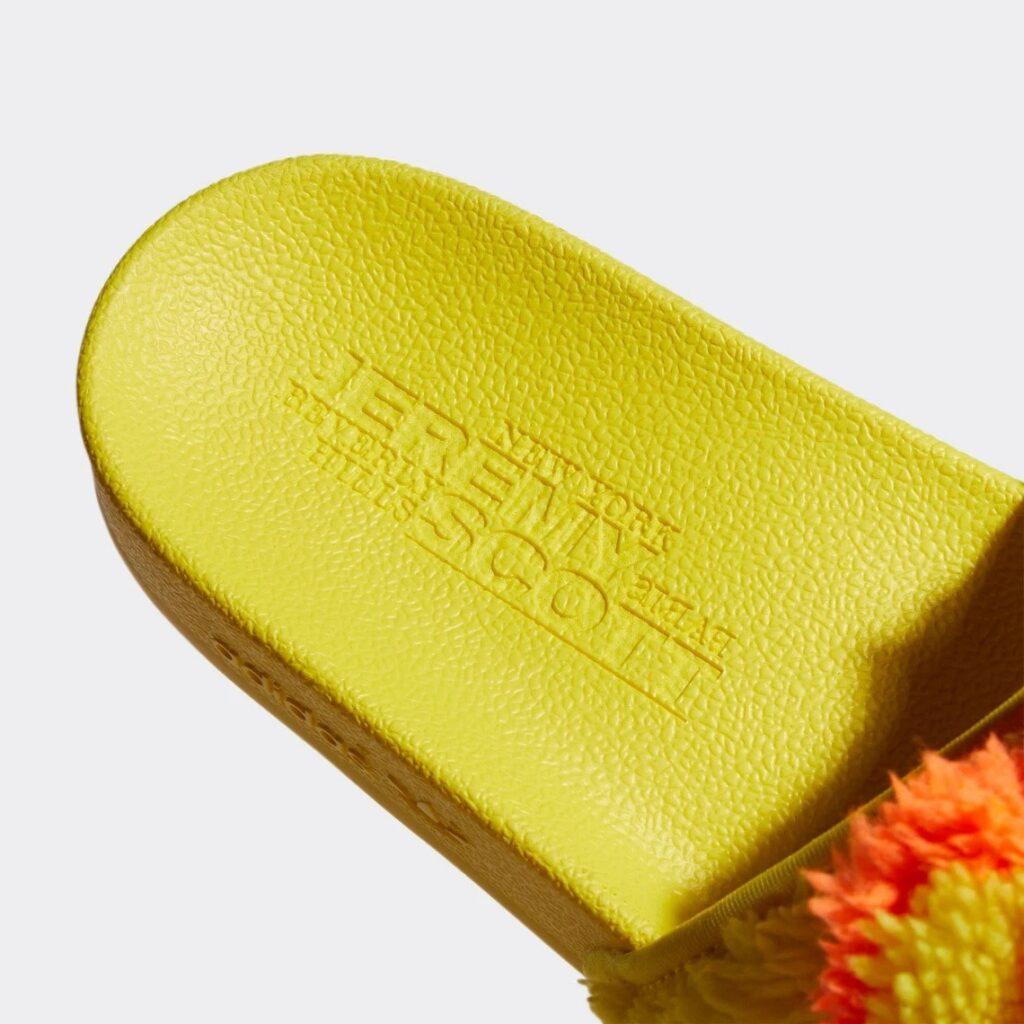 Jeremy Scott x adidas adilette Teddy
