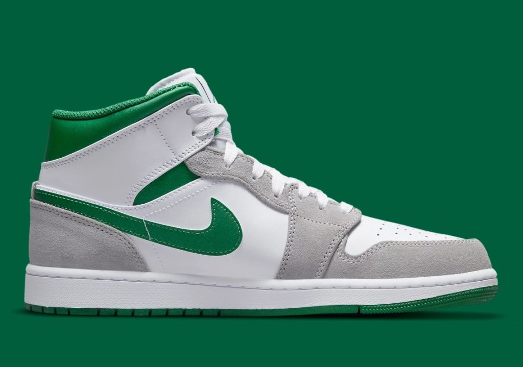 Jordan 1 Mid Green Grey