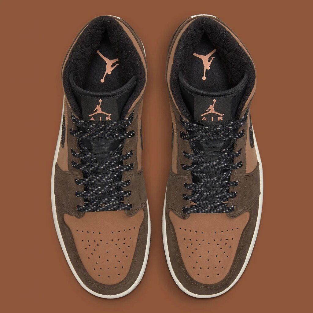 Jordan 1 Mid Mocha Brown