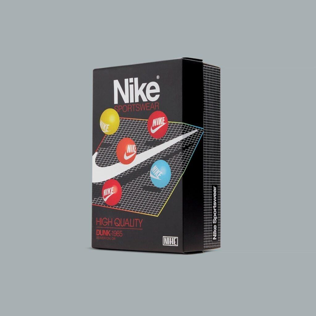 Nike Dunk High Black Acid Wash 1985