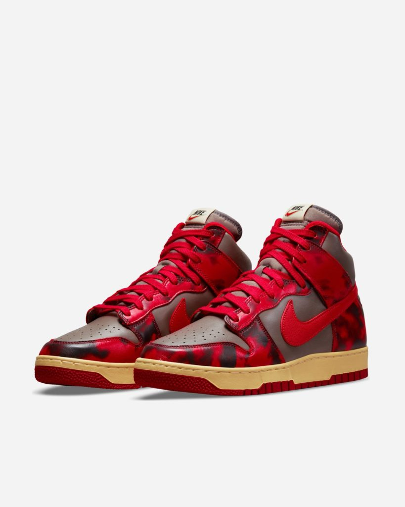 Nike Dunk High Red Acid Wash 1985
