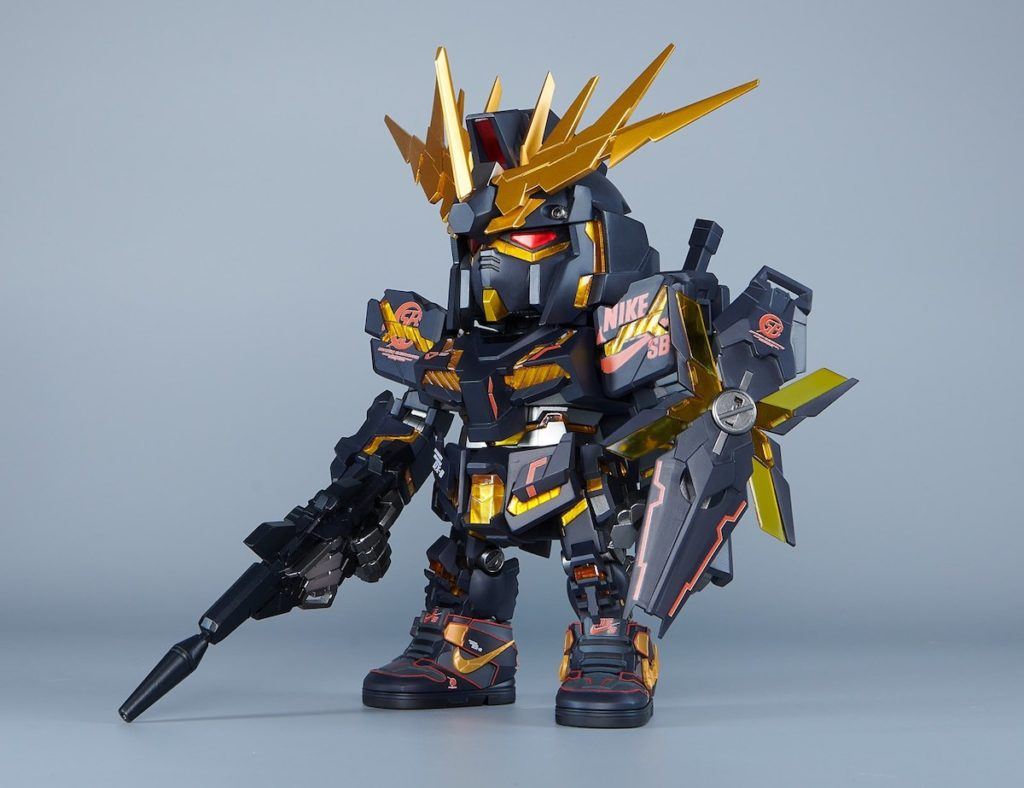 Gundam x Nike SB Dunk High Banshee