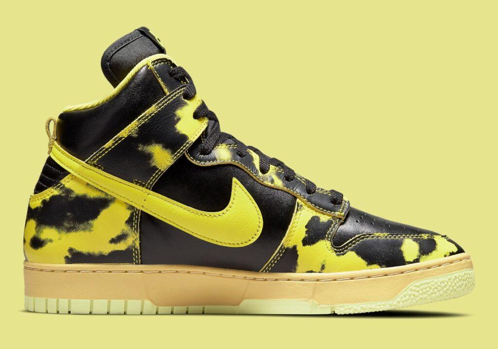 Nike Dunk High Acid Wash Yellow