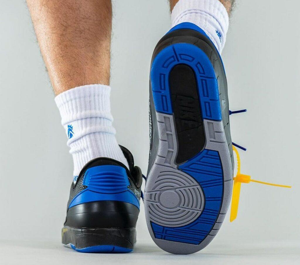 Off White x Nike Air Jordan 2 Black Blue