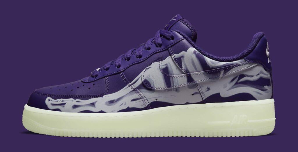 Air Force 1 Purple Skeleton