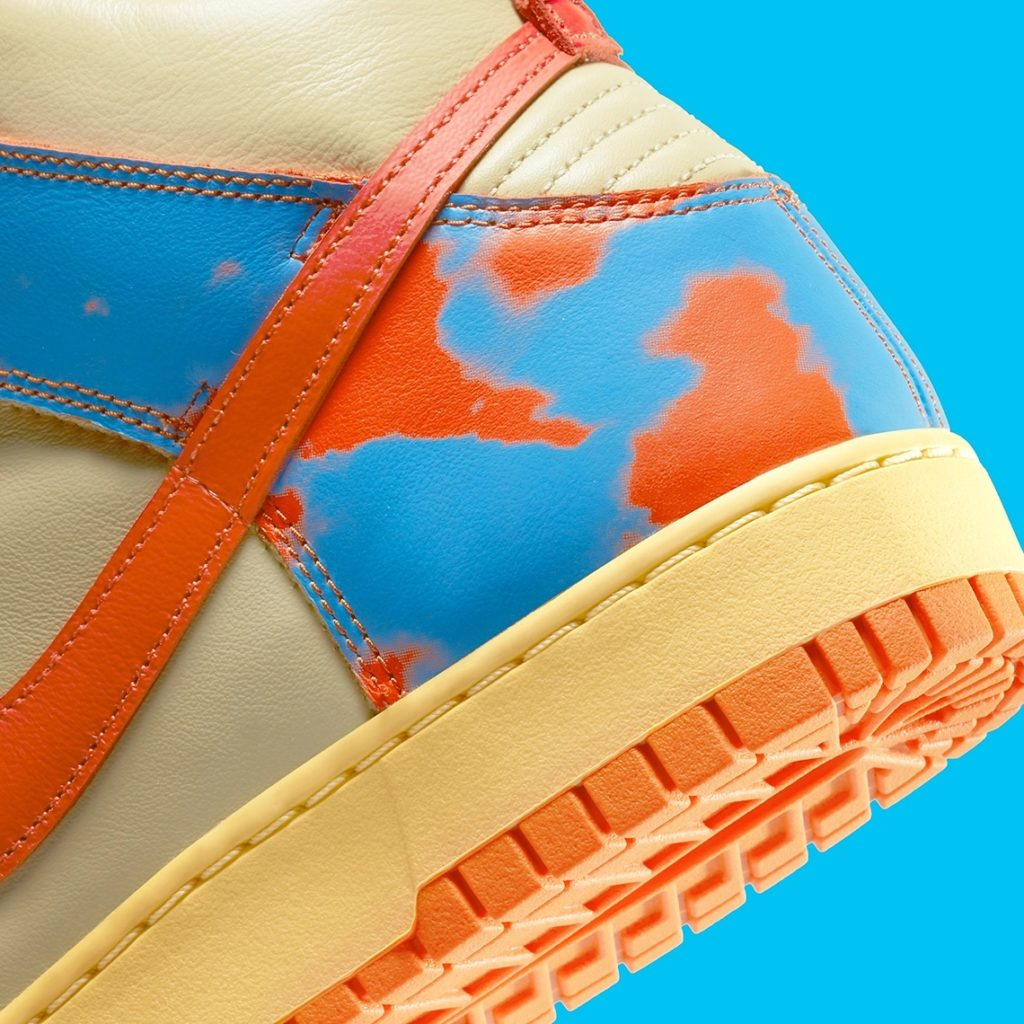 Nike Dunk High Acid Wash Orange