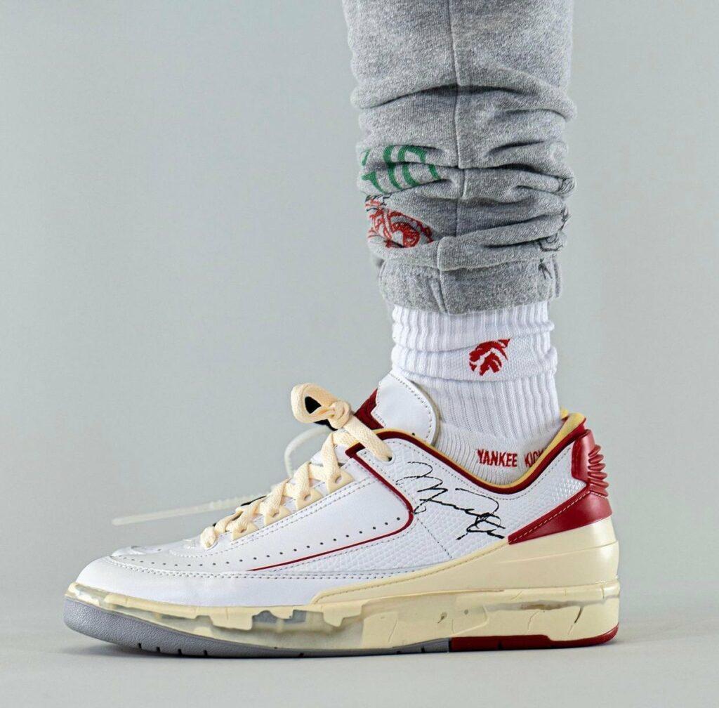 Off White x Nike Air Jordan 2  White Red