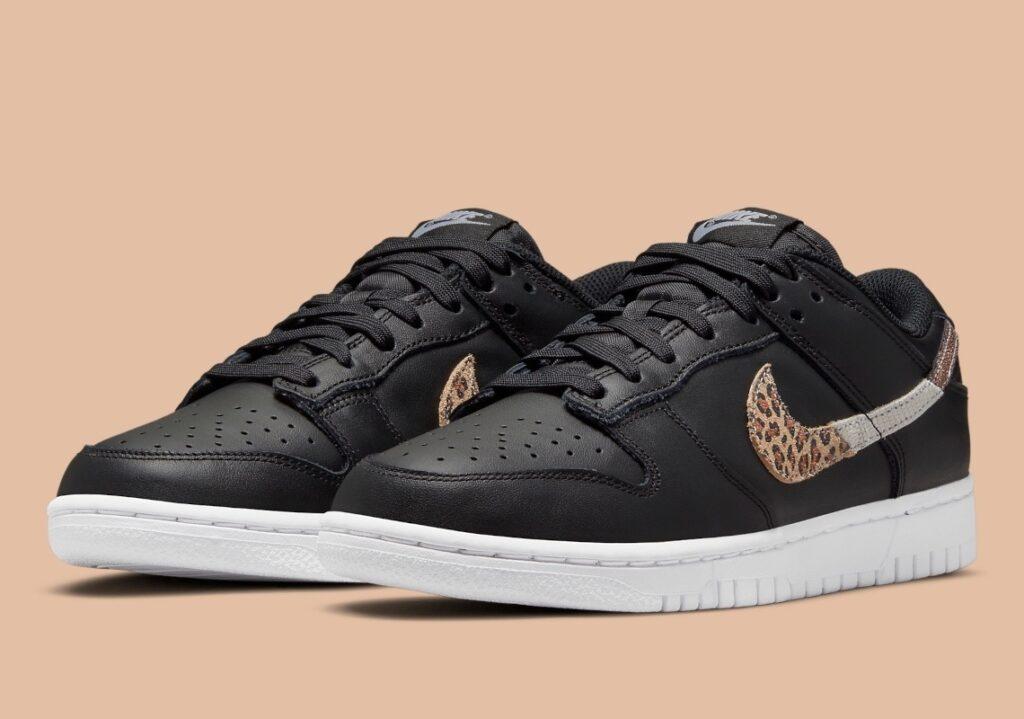 Nike Dunk Low Black Animal Swoosh